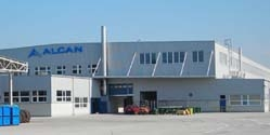 Alcan Levice – production hall with administration