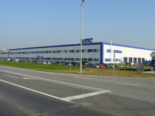 UMC Nové Mesto nad Váhom - production hall with new office administration (Universal Media Corporation)
